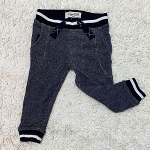 Baby Dark Blue & White Jogger Pants (18 mos)